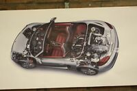 Porsche Boxster Spider Rs60 PVC Grande Taller Bandera Coche Muestra