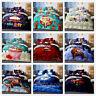 3D Cartoon Christmas Santa Claus Duvet Cover Bedding Set Pillow Case Quilt Cover