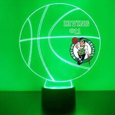Boston Celtics LED Night Light Personalized FREE NBA Basketball Light Up LED