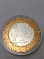 CASINO MAGIC, BILOXI, LIMITED EDITION SILVER TOKEN .999 FINE SILVER $10