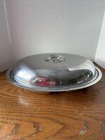 Vintage Gense Sweden Stainless Steel 18-8 Casserole Lidded Divided Dish