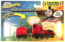 DINO DISCOVERY JAMES TRAIN Thomas & Friends Adventures hablando de Metal Motor Nuevo Y En Caja