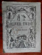 Oliver Twist Charles Dickens Household Edition 1876 Appleton Mahoney illustrated