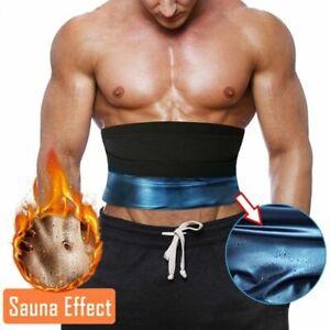Men Weight Loss Waist Trainer Promote Sweat Body Shaper Sauna Belt Fat Burner UK