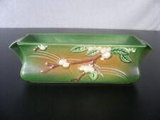Roseville Art Pottery Green & Sienna Snowberry #1WX Planter Vintage