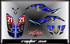 Yamaha raptor 350 YFM350 SEMI CUSTOM GRAPHICS KIT BLUESTAR