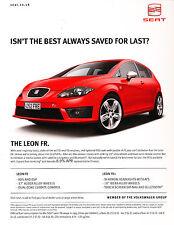 2012 SEAT Leon FR - Vintage Advertisement Car Print Ad J385