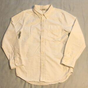 Old Navy White Long Sleeve Button Down Casual Dress Shirt Boys Size XL 14-16 EUC