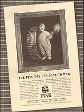 1942`Vintage ad for FISK Tires`Photo Fisk Boy`WWII era (081015)