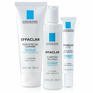 La Roche-Posay Effaclar Dermatological Acne Treatment 3-Step  2-Month Supply