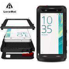 LOVE MEI Powerful Aluminum/Metal Gorilla Glass Armor Case For Sony Xperia XA 5.0