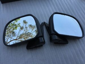 1 Pair Manual Front Side Mirror For Toyota Hiace H100 Series Van Year 1989-2004