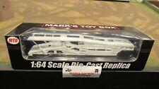 Mtb-1632 White 5 Car Transport Transporter Carrier Trailer 1:64 Speccast