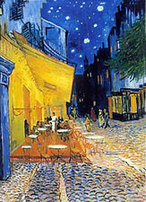 Van Gogh - Cafe Terrace at Night - 3D Lenticular Postcards Gift Card