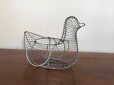 Rustic Wire Chicken/Hen Egg Gathering Basket/Container 12""