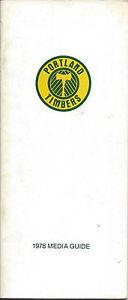 1978 Portland Timbers Media Guide