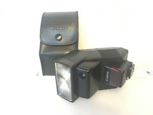 Vtg CANON SPEEDLITE 300EZ FLASH Gun+CASE