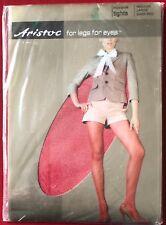 Gorgeous Aristoc Micronet Tights Pantyhose Dark Red Medium-Large