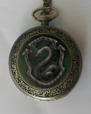 Collana/orologio taschino vintage ispirato a Harry Potter Hogwarts serpeverde