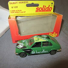 320C Solido 1319 Talbot Horizon Benetton 1:43