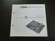 Original Bedienungsanleitung BIC Multiple Play Turntable Model 980 , 960