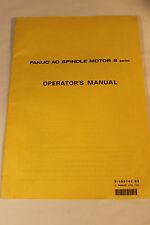 FANUC B-65014E/02 AC SPINDLE MOTOR S SERIES OPERATOR'S MANUAL