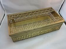Ornate brass tissue box holder