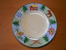 Bella SIERRA Set of 5 Dinner Plates 10 3/4 Lodge Blue Yellow A