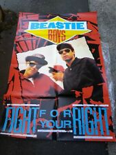 Beastie Boys Fight 4 Ur Right Uk Subway Poster Vg Rare Tears Folded Htf Vtg!