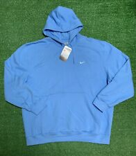 Vintage Nike Embroidered Swoosh Hoodie Men's Sz XL Baby Blue 2004 NWT Deadstock