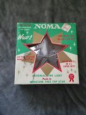 Vintage Noma Miniature Clear Plastic Tree Topper Star Vgucsb