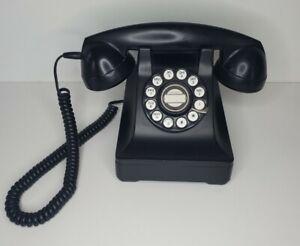 Vintage Classic Style Corded Phone Retro Design Landline Telephone, Black HAC