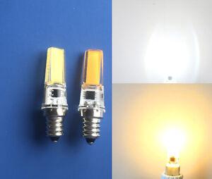E12 Candelabra C7 5W COB 2508 LED Light Bulb White/Warm White 110V/220V Silicone