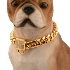 For Large Dog Pitbull Bulldog Strong Metal Dog Collar Pet Training Chain Collar