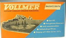 VOLLMER 200 /76 - Auffahrt gebogen steigend - H0 - in alter OVP - Modellbausatz