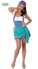 Costume Zingara Gitana Donna Carnevale Cartomante Travestimento