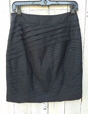 WHITE HOUSE BLACK MARKET Black Skirt Mini NEW Sz 0 XS Cotton WHBM NEW Orig $88