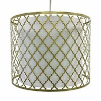 Easy Fit Light Shade Gold Metal Morrocan Design Ceiling Pendant Shade