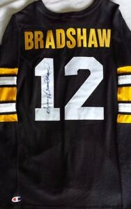 TERRY BRADSHAW Autographed Vintage Champions Pittsburgh Steelers Jersey ~ New