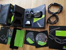 NVIDIA 3D Vision Active 3D Glasses + IR Emitter Complete Kit Boxed *MINT*