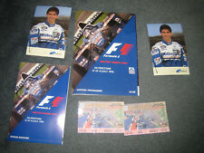 BRITISH GRAND PRIX SILVERSTONE 1996 PROGRAMME RACE CARD TICKETS+2 SIGNED POSTCAR