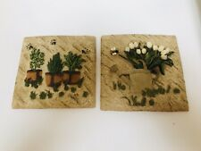 New Listing2 Garden Themed Ceremic Wall Decor