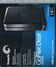Seagate 1.5 TB Sata Freeagent Goflex Desk -NIB (shrink has been torn in storage)