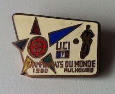 UCI FFF CHAMPIONATS DU MONDE 1960 MULHOUSE Brosche Abzeichen emailliert