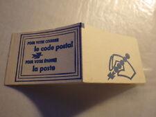 Carnet DE 8 timbres sans valeur FACIALE CODE POSTAL 54100 NANCY