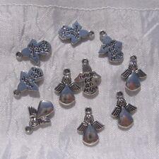 Lot de 5 breloques anges perles charms en métal argenté 18mm x 13mm *B495