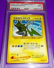 Pokemon Raichu Shining Japanese  Neo 4  PSA 9