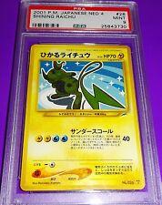 Pokemon Raichu Shining Japanese  Neo 4  PSA 9