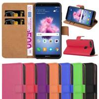 Huawei P Smart Case, Leather Wallet Book Flip Pouch Card Case Cover