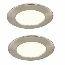 2 LED MAINS RECESSED LIGHT KITCHEN UNDER CABINET CUPBOARD WARM WHITE 30000 HOUR